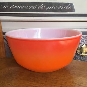 Anchor Hocking Fire King Orange ombré mixing bowl